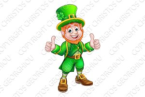 Cartoon Saint Patricks Day Leprechaun