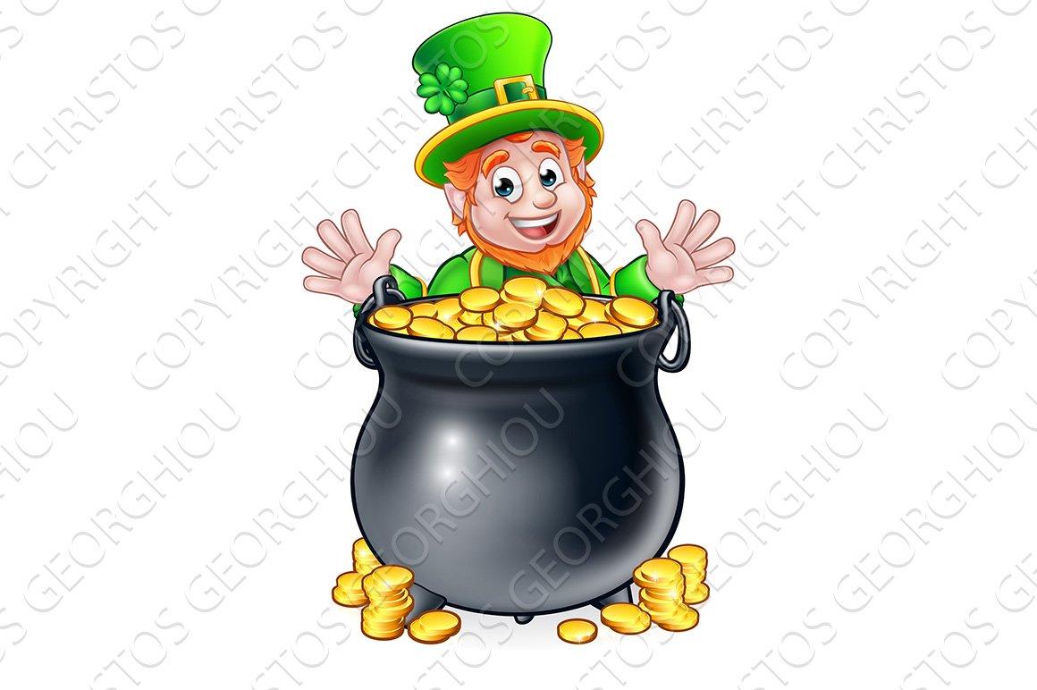 Pot of Gold Saint Patricks Day Leprechaun ~ Graphic ...