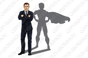 Superhero Business Man