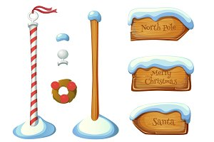 Christmas signposts set