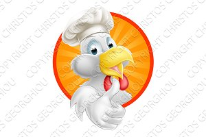 Cartoon Chef Chicken