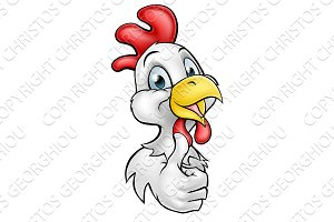 Cartoon Chicken Rooster