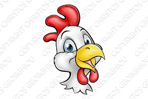 Cartoon Chicken Rooster Character