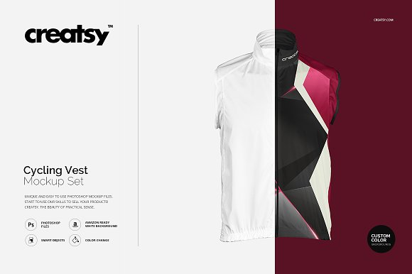 Download Cycling Vest Mockup Set