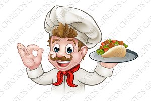 Cartoon Chef Kebab