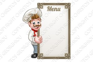Cartoon Chef Menu