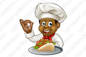 Black Chef Holding Kebab