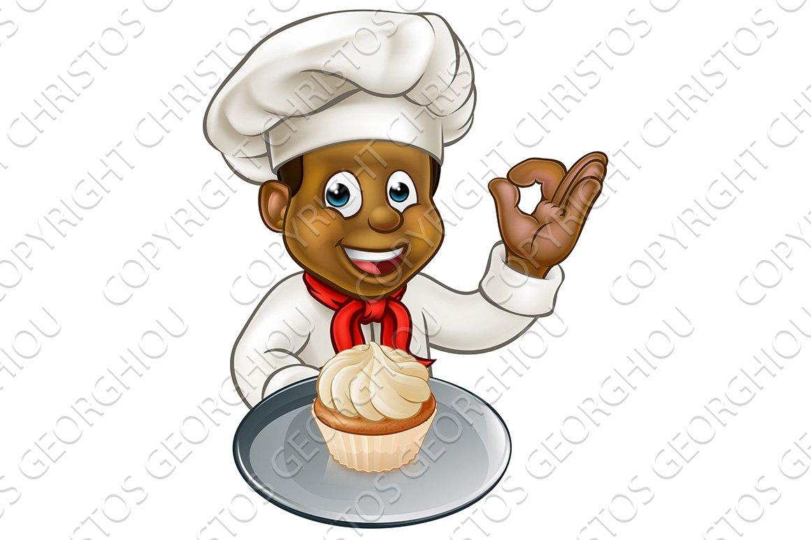 Cartoon Pastry Chef Baker With Fairy Cake Custom
