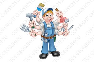 Cartoon Handyman