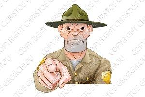 Park Ranger Pointing