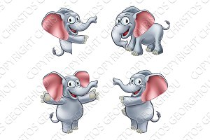 Elephant Cartoon Masoct