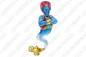 Cartoon Evil Aladdin Genie