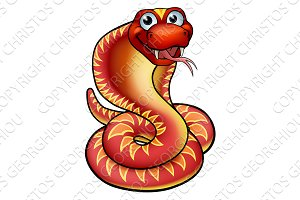 Cartoon Cobra Snake Character