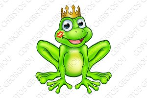 Cartoon Frog Prince Kiss