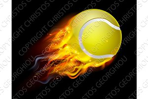 Tennis Ball on Fire