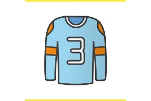 Hockey player's shirt color icon