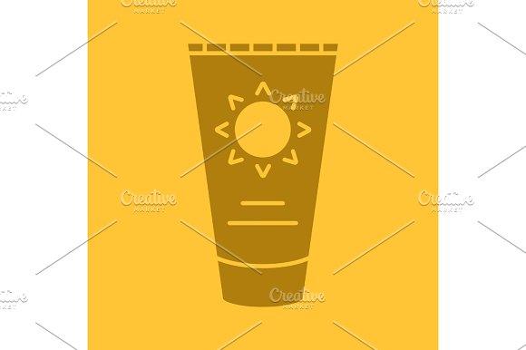 Sun Cream Glyph Color Icon