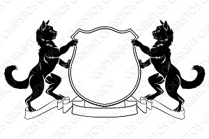 Cats Heraldic Coat of Arms Crest Shield