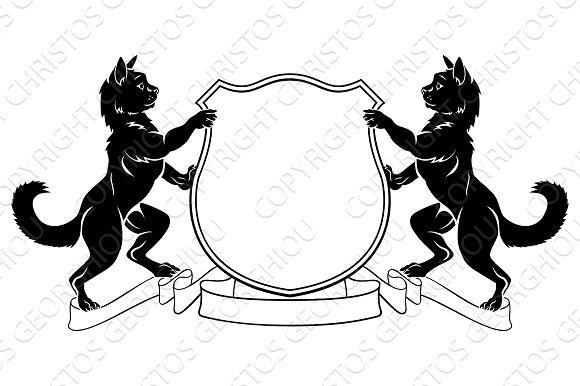 Cats Heraldic Coat Of Arms Crest Shield