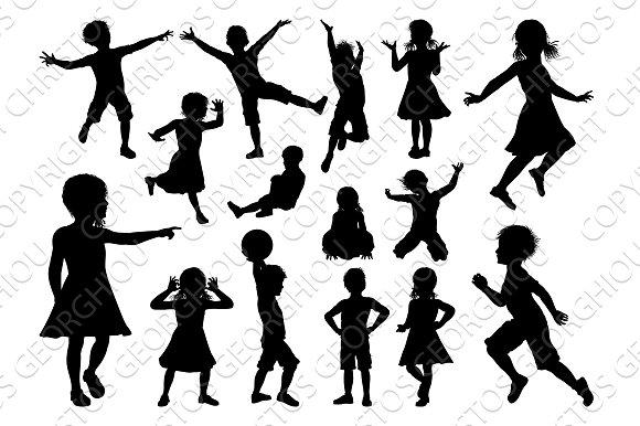 Children Silhouette Set