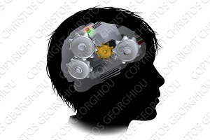 Machine Workings Gears Cogs Brain Child