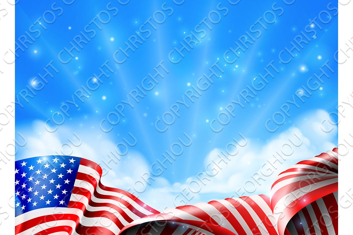 american flag background illustrations creative market