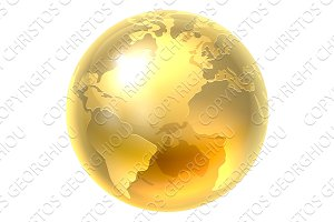 Gold Earth World Icon