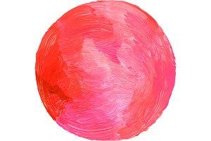 Abstract circle acrylic