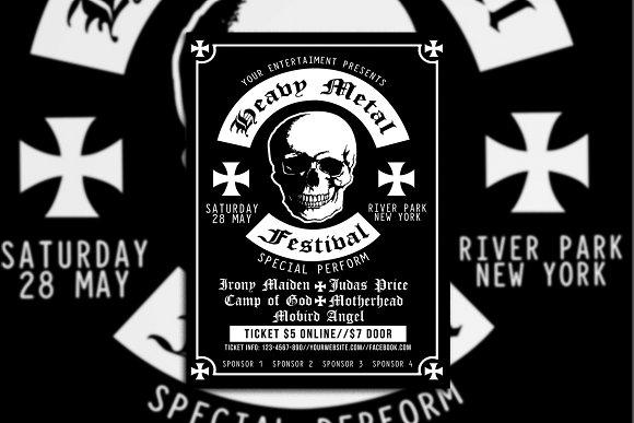 Heavy Metal Festival Poster Flyer