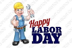 Happy Labor Day Worker Design