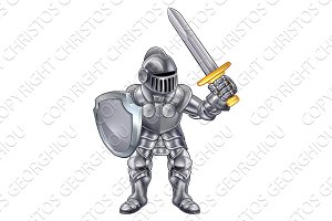 Knight Cartoon Mascot