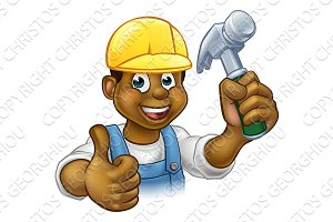 Black Handyman Cartoon Character