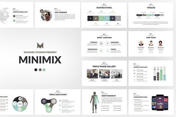 minimix powerpoint template presentation templates creative market