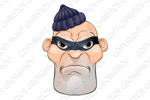 Thief or Burglar Criminal Cartoon Character