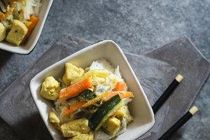 Thai chicken, with basmati rice
