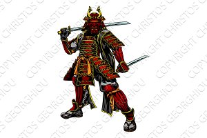 Japanese Samurai Warrior