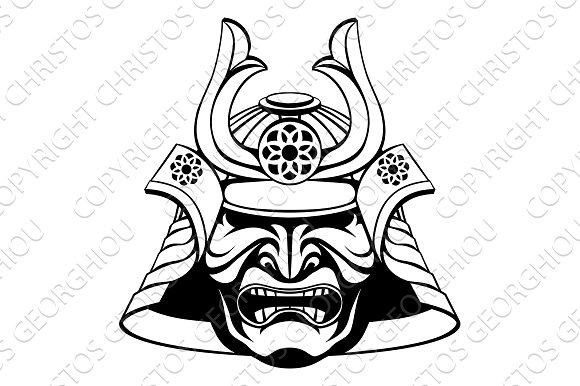 Stylised Samurai Mask