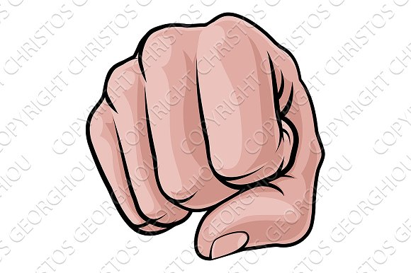 Fist Punch Knuckles Hand