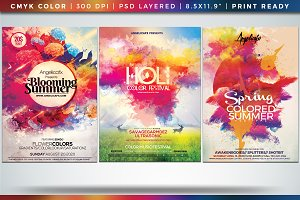 Colorful Flyer/Posters Bundle Vol 7