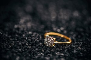 Jewellery diamond ring