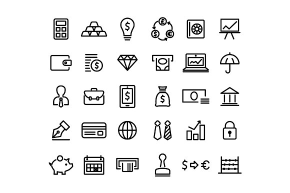 FINANCE Vector Line Icons