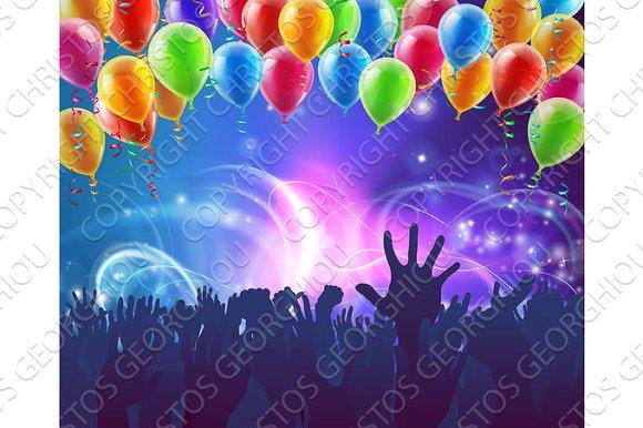 Celebration Party Balloons Background