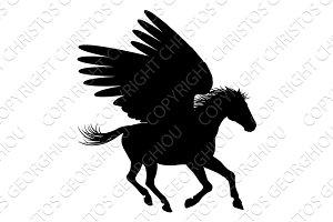 Running Pegasus Silhouette