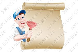 Plunger Handyman Scroll