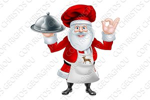 Santa Chef Christmas Dinner Concept