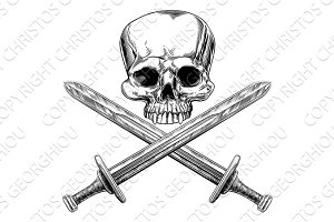 Skull and Cross Swords
