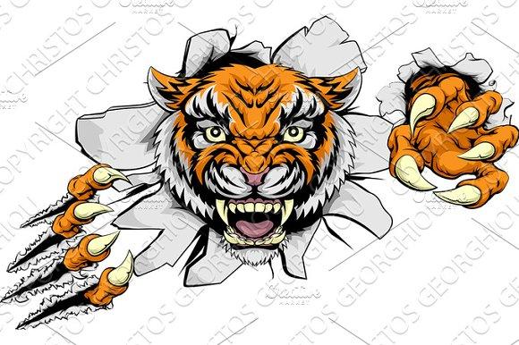 Tiger Attack Concept