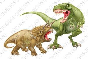 T Rex Versus Triceratops