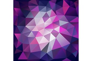 Triangle background. Lilac polygons.