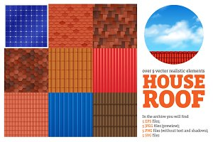 House Roof Patterns Set